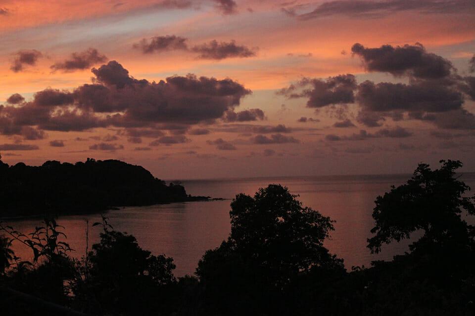 bahia drake couche de soleil costa rica
