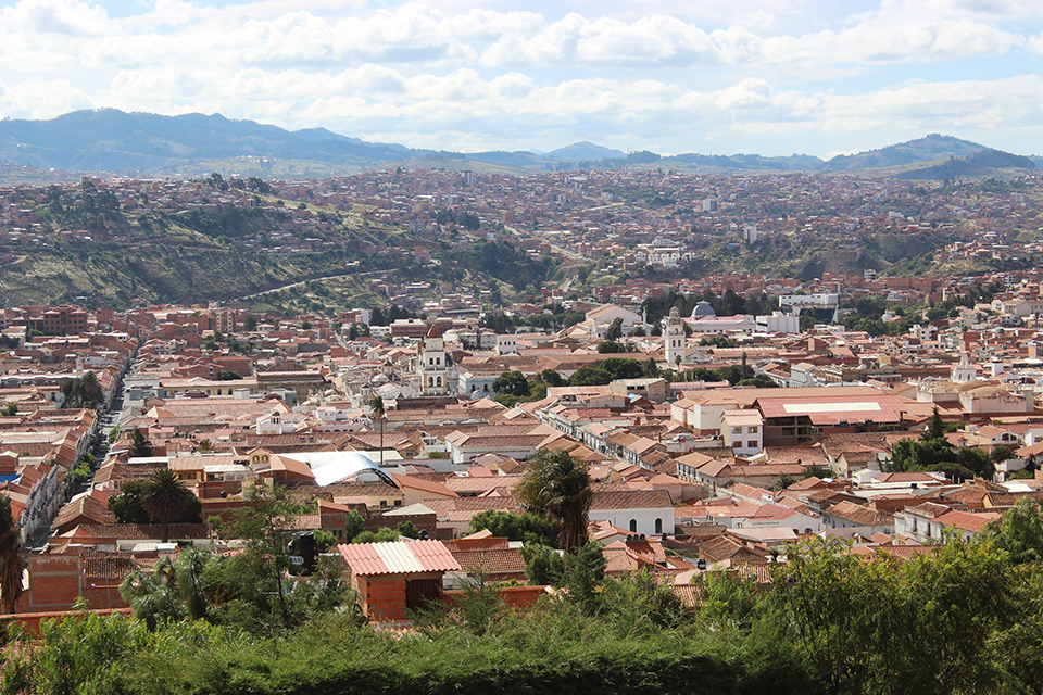 ciudad, ville, panorama, sucre, bolivia