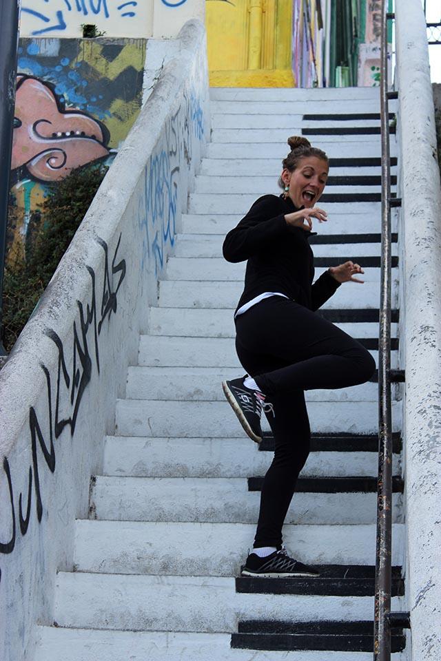 piano, escaliers, valparaiso, chili