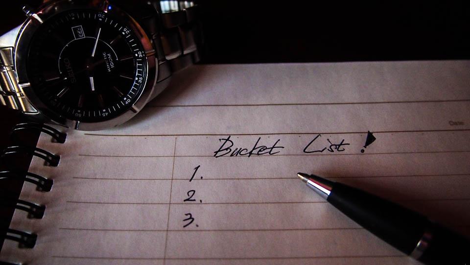 Comment réaliser sa bucket list