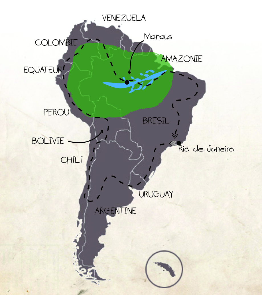 carte trip amerique du sud