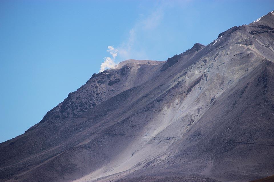 volcan, ollague, activite