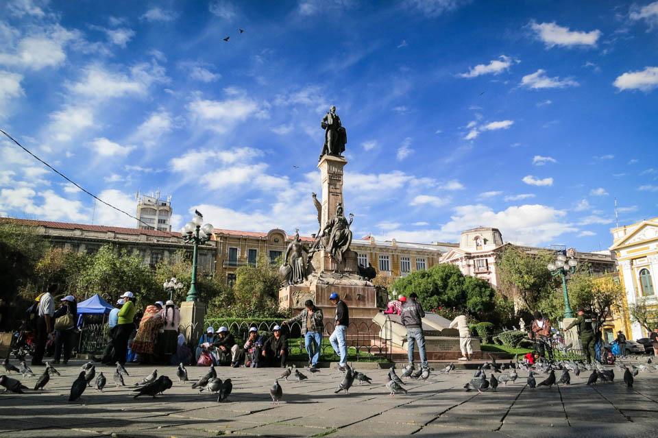 Place murillo, la paz, bolivie