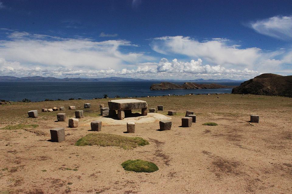 explore le monde, incas, chemin, rituel, isla del sol