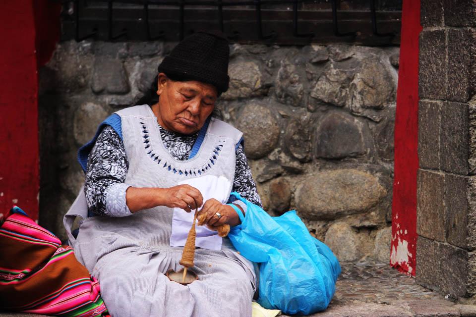 la paz, bolivienne, artisanat
