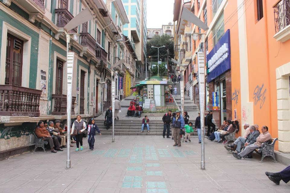 rue, la paz, bolivie
