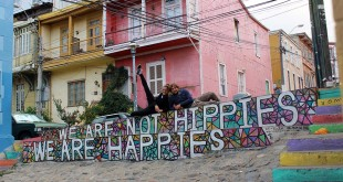 street art, happy, valparaiso, chili