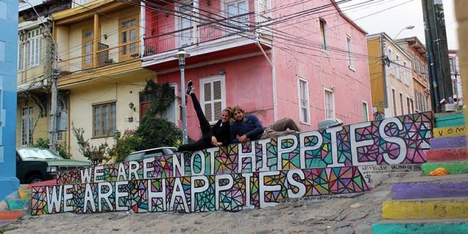 street art, happy, valparaiso, chili