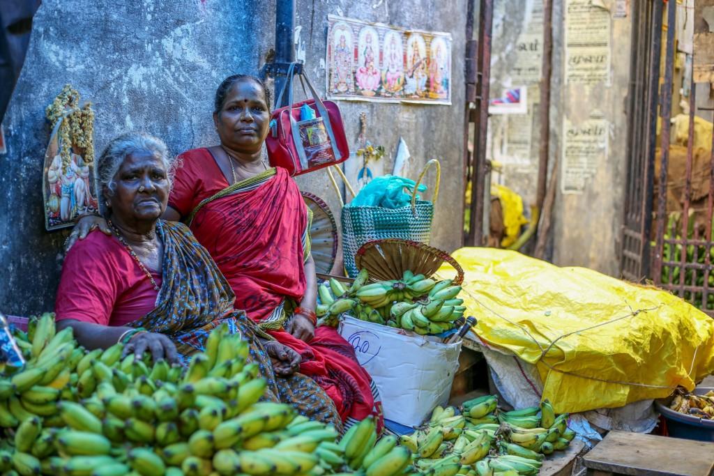 Inde-marché-famille-pondichery-goubert-market
