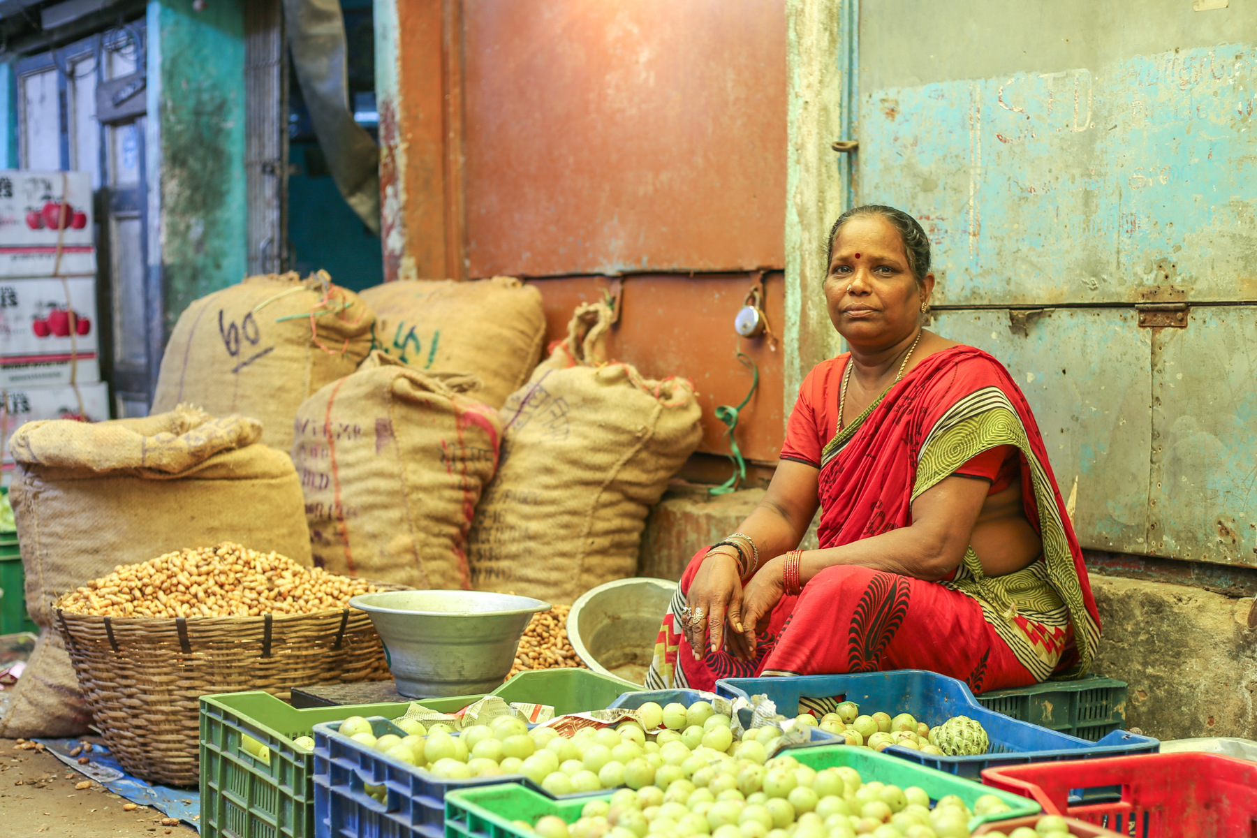 Inde-marché-photo-pondichery-goubert-market