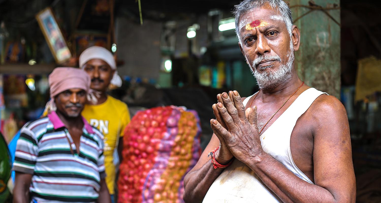 Jour de marché à Pondichery