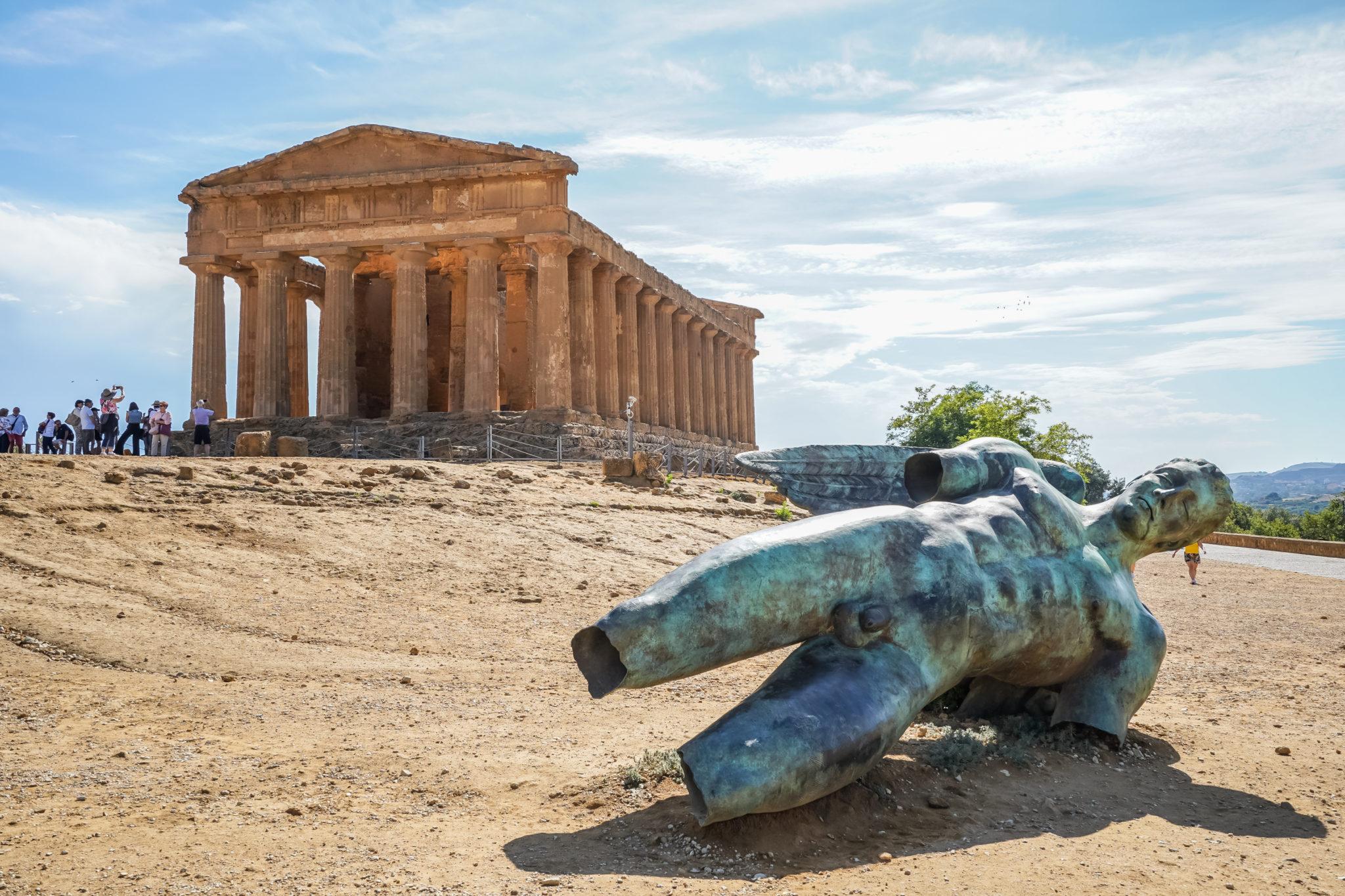 Agrigente-sicile-italie-icare-tombé-vallée-temples
