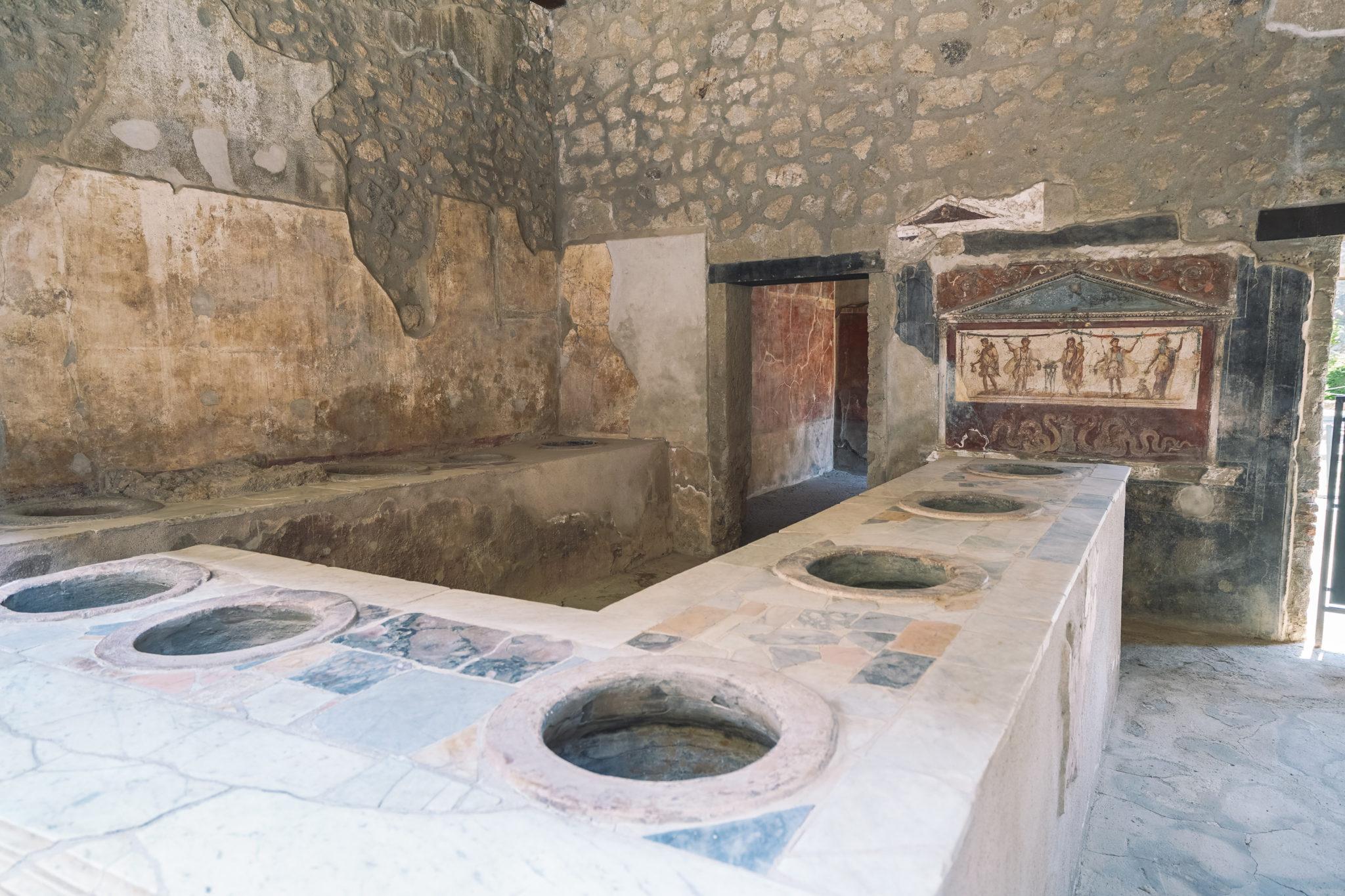 Visite-pompei-comment-commerçant-commerce-ruines