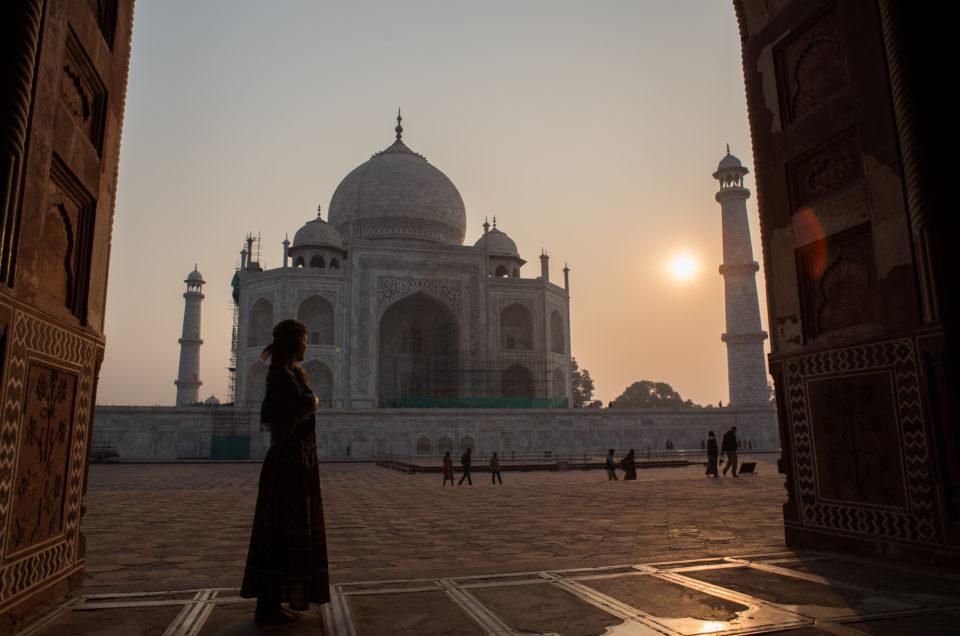 Seuls face au Taj Mahal