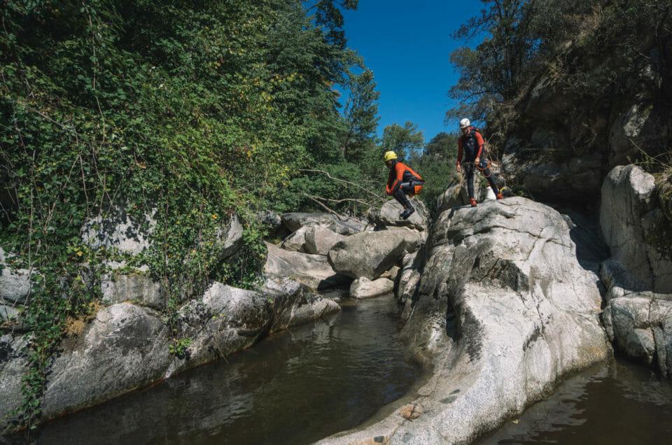 Une sortie canyoning dans les Pyrénées Orientales