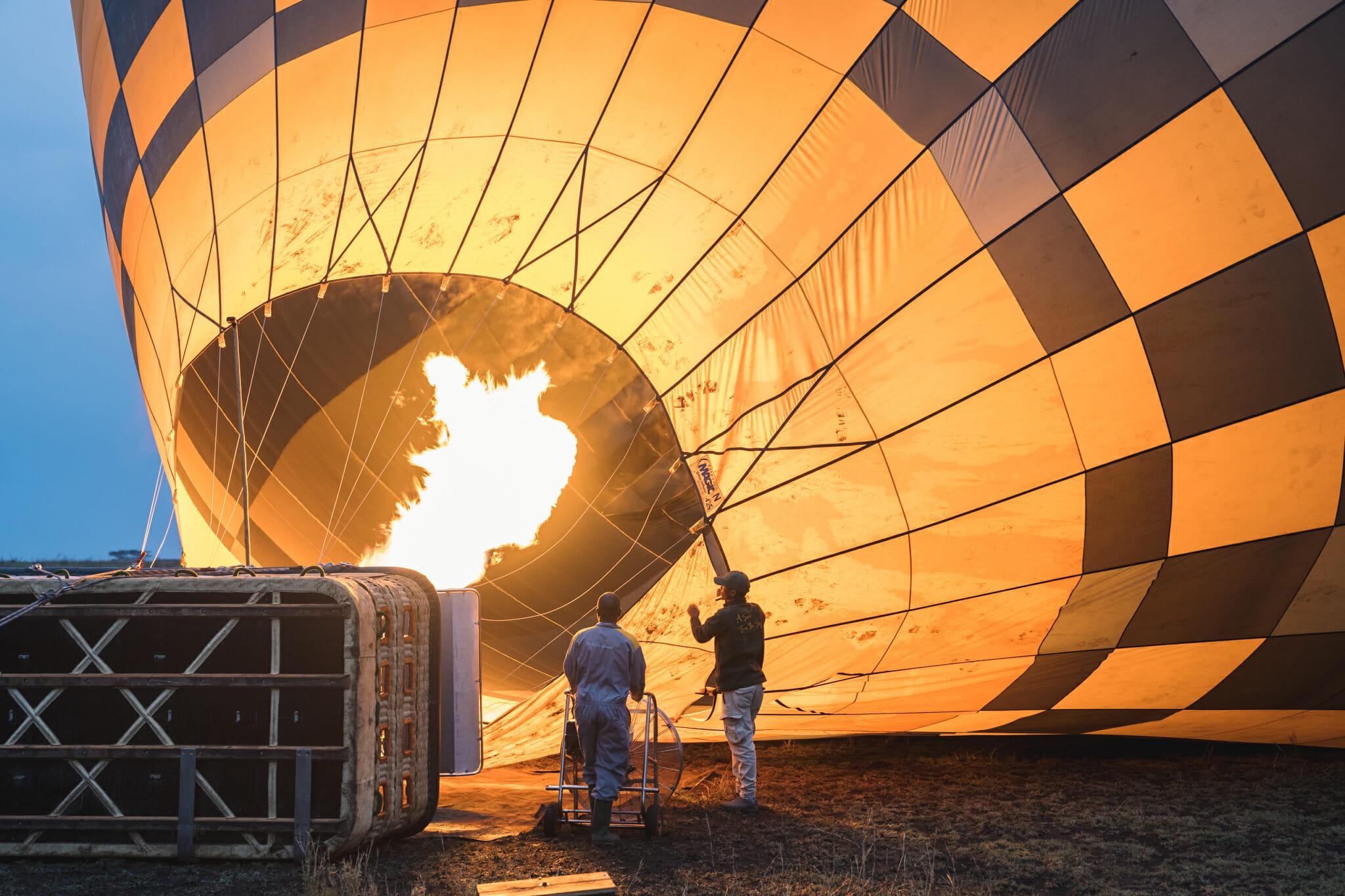 Safari en montgolfiere dans le Serengeti