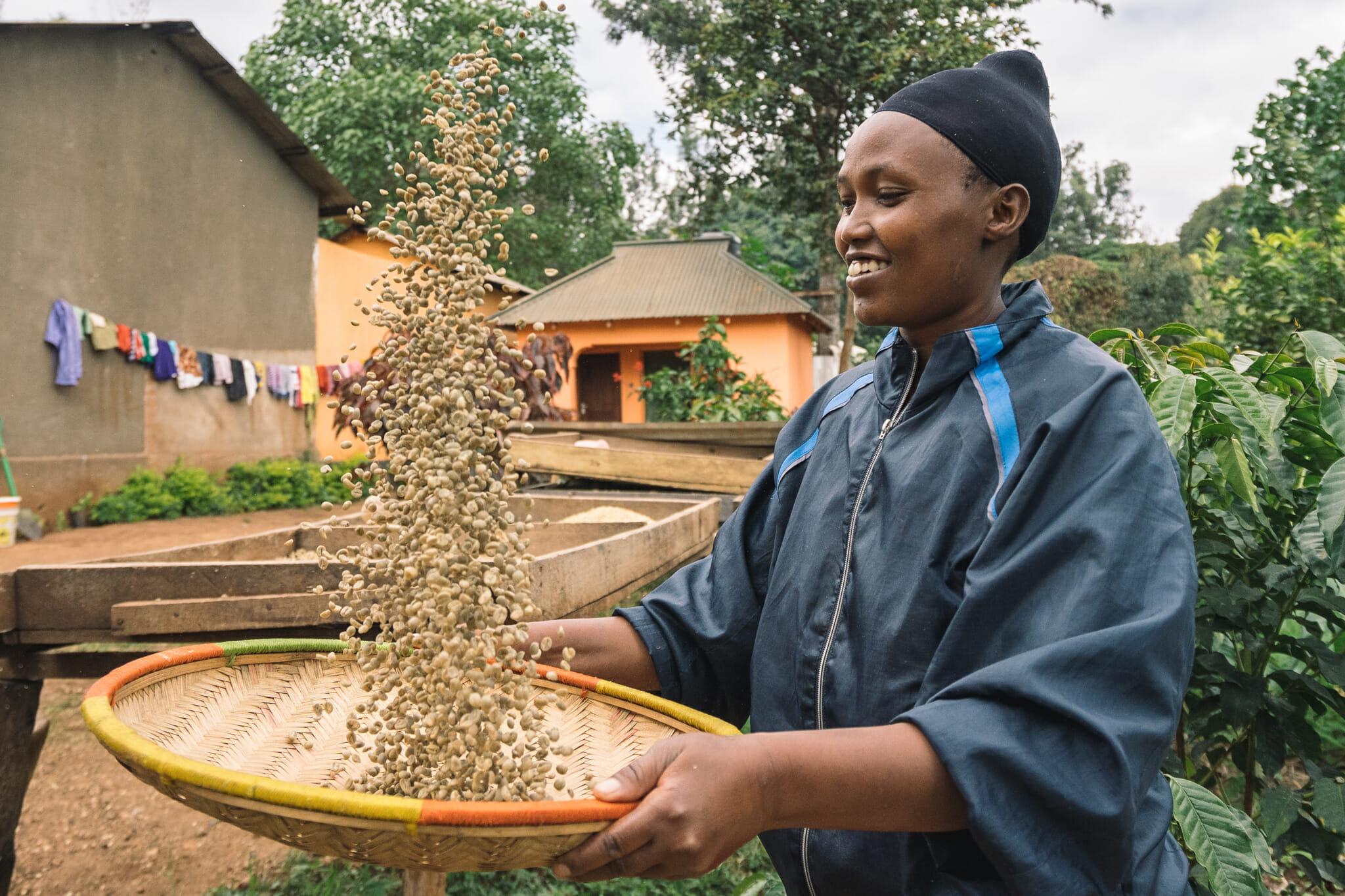 Fondatrice de la ferme de café familiale en Tanzanie