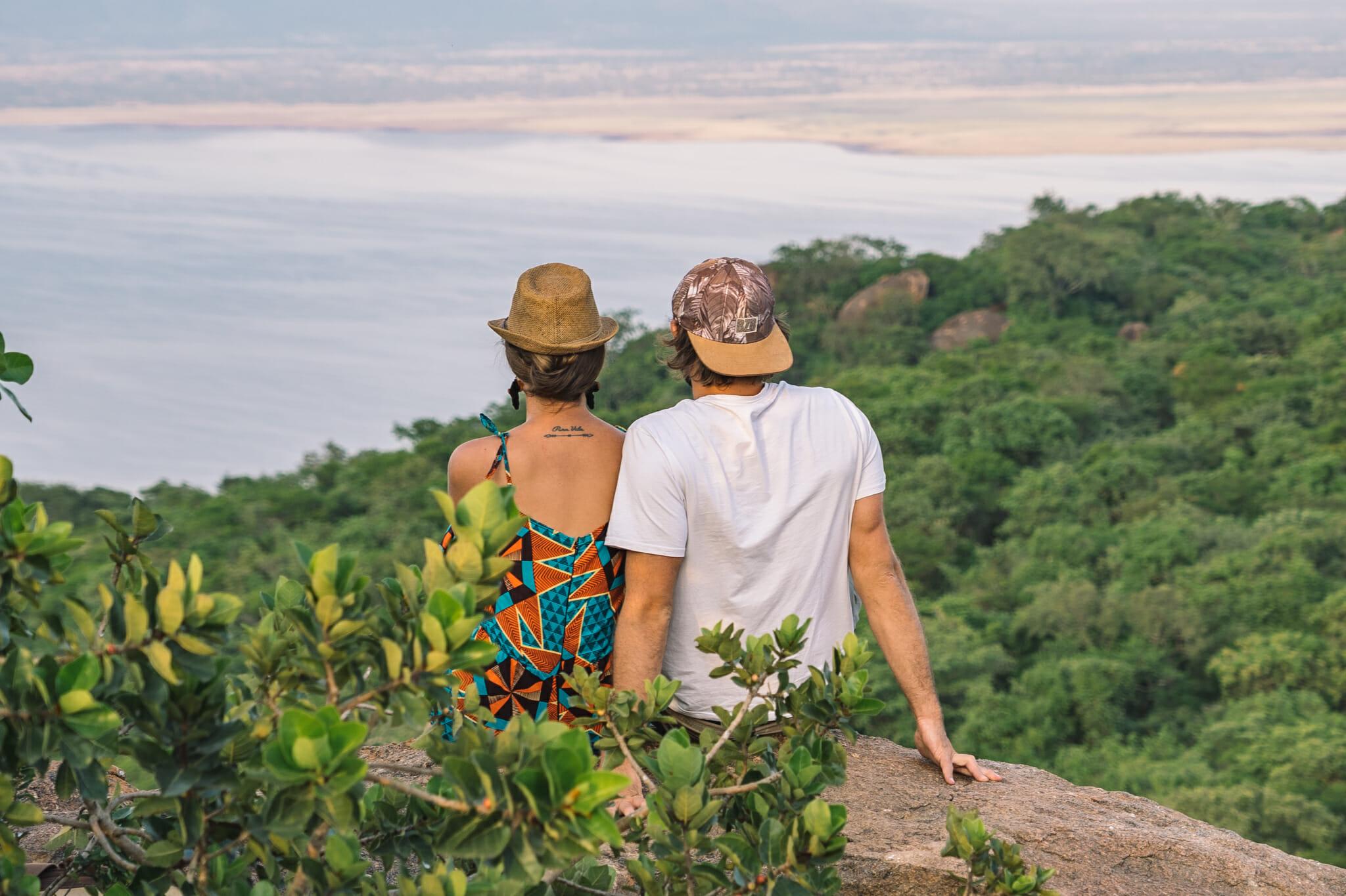 Vue sur le lac Manyara depuis le village de Endallah en Tanzanie