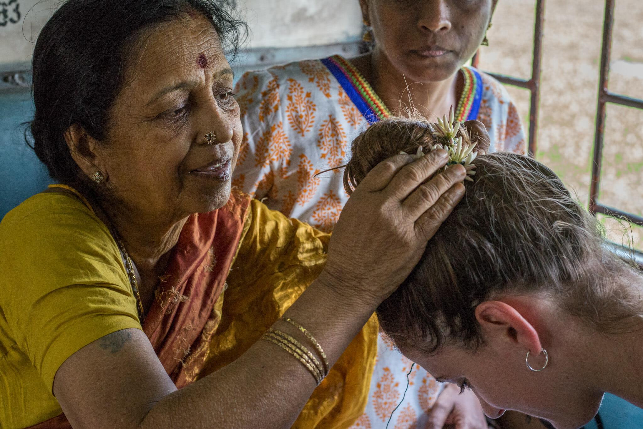 Maryne et Mandala dans un train indien
