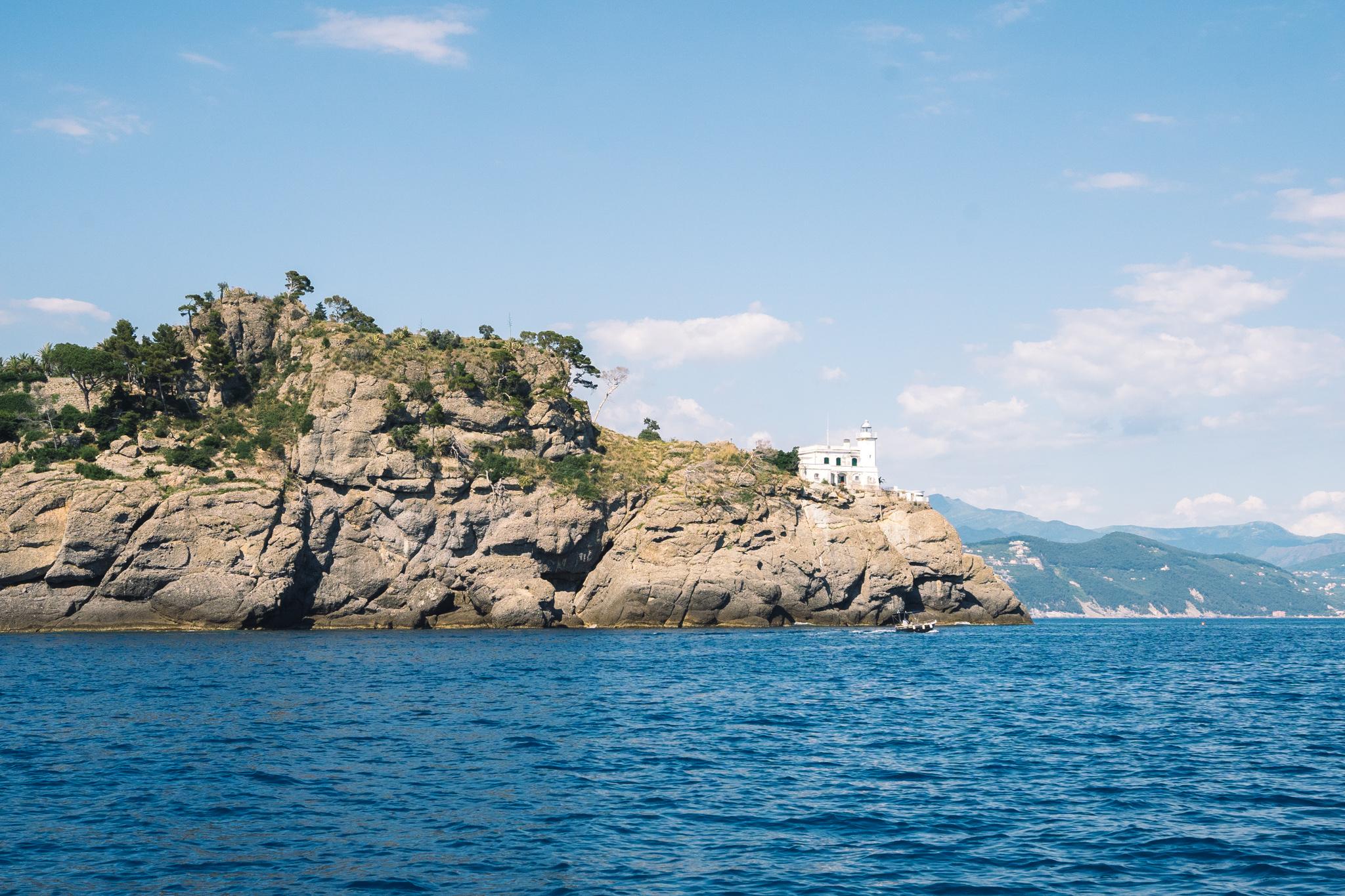 vue sur portofino en italie