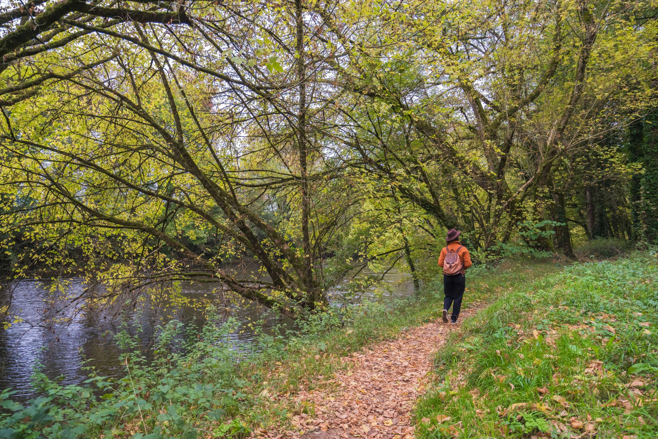 balade sur le chemin du rayse dans la vallée de la vézère