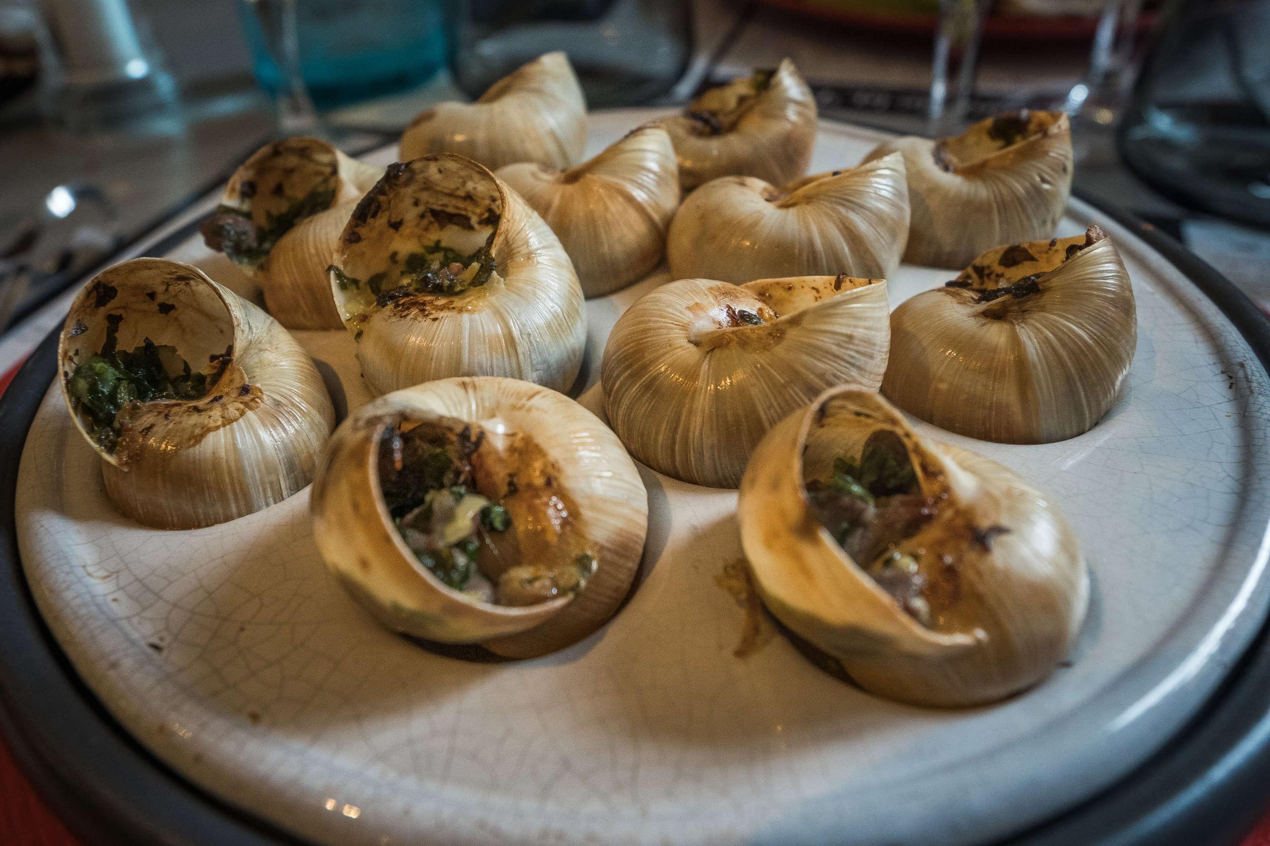Découverte des escargots au magret de canard dans un restaurant du périgord noir