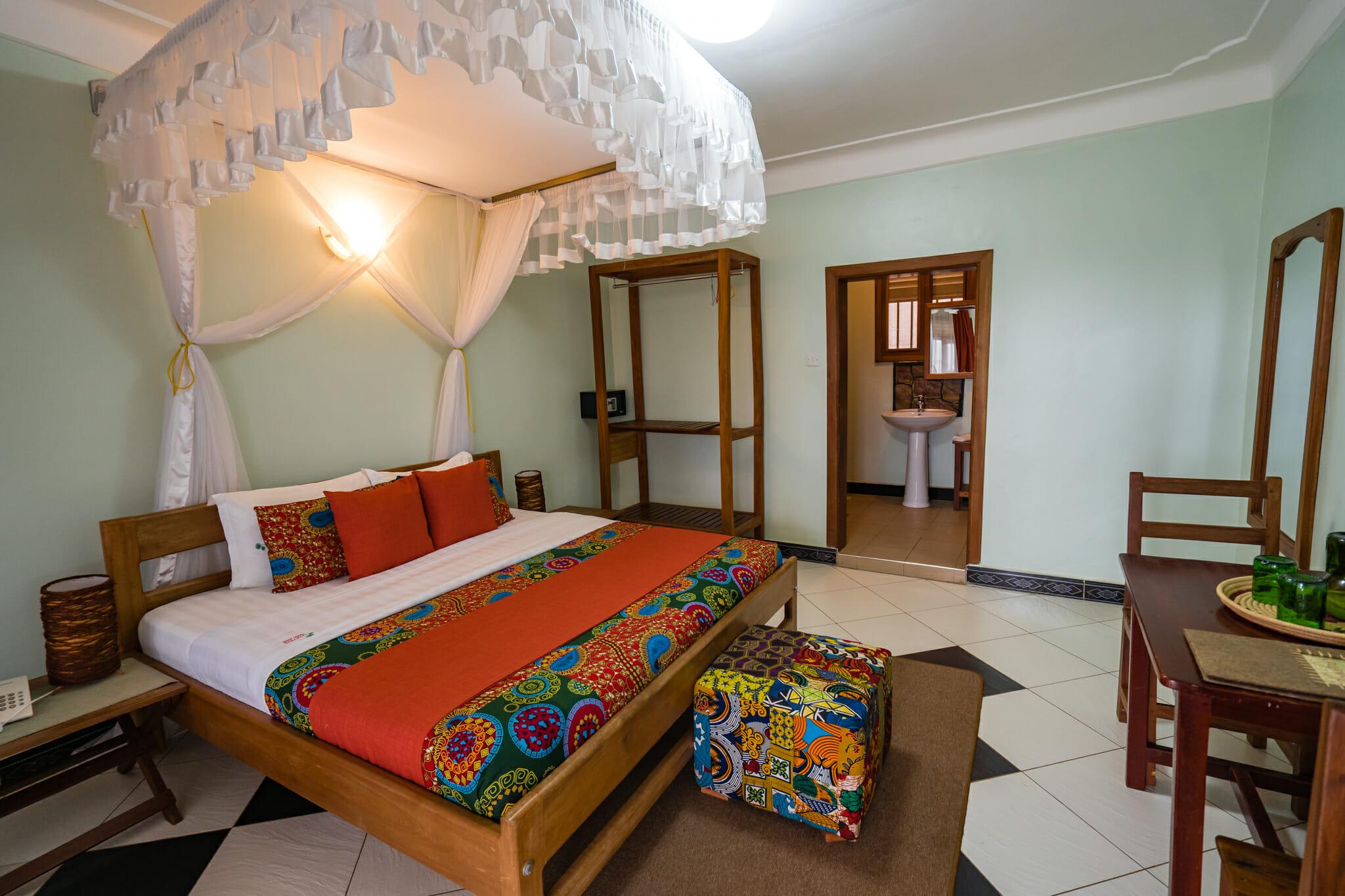 Chambre du logement papyrus guesthouse à entebbe