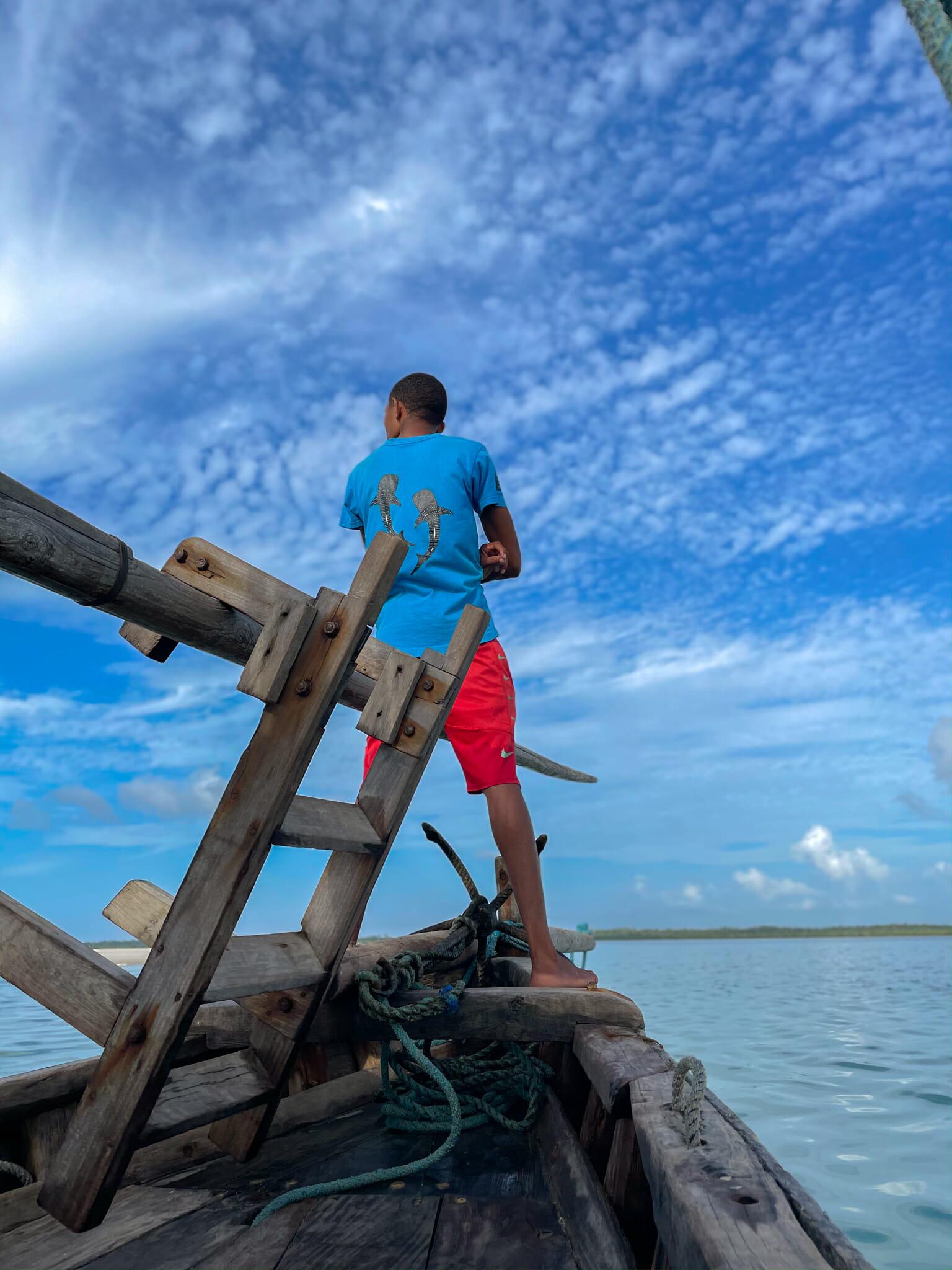 balade en bateau sur l'île de chole