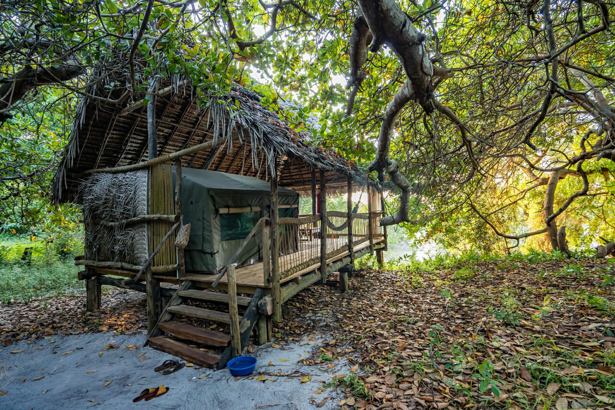 Cabane du kitu kiblu à mafia island